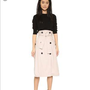 COPY - Skakuhacki paper bag trench skirt